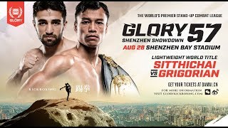 GLORY 57 Shenzhen:  Opening Betting Odds and Official Weigh-Ins Video