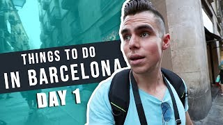 BARCELONA TRAVEL VLOG DAY 1 - THINGS TO DO IN BARCELONA
