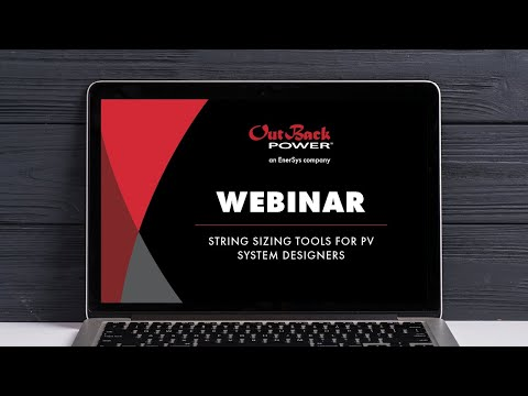 Webinar | String Sizing Tools for PV System Designers
