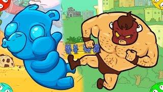🐾 БИЗОН против МАРМЕЛАДОК МИШЕК в игре Burrito Bison Игрушка мультяшка для детишек