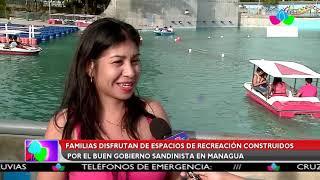 Multinoticias | Familias disfrutan de espacios de recreación construidos por el GRUN en Managua