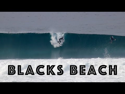 Surfing at Blacks Beach! (Double Overhead)