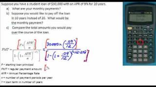 Loan Payment Formula
