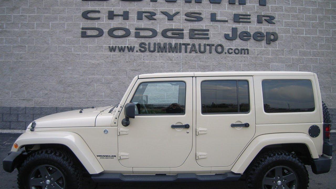 sold! 8868a 2011 used jeep wrangler unlimited sahara tan mojave
