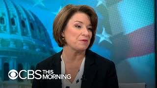 Klobuchar on impeaching Trump while campaigning to defeat him