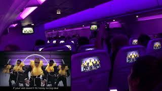 Virgin America Farewell Flight - Safety Video Sing Along