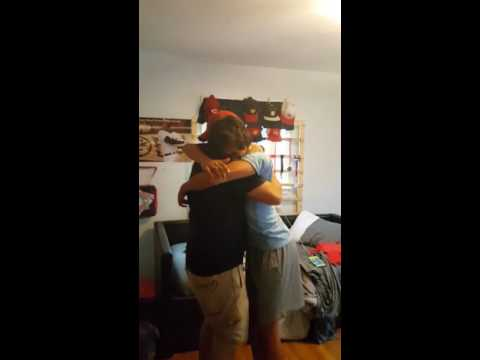 Navy sailor surprising son after 1 year in Bahrain
