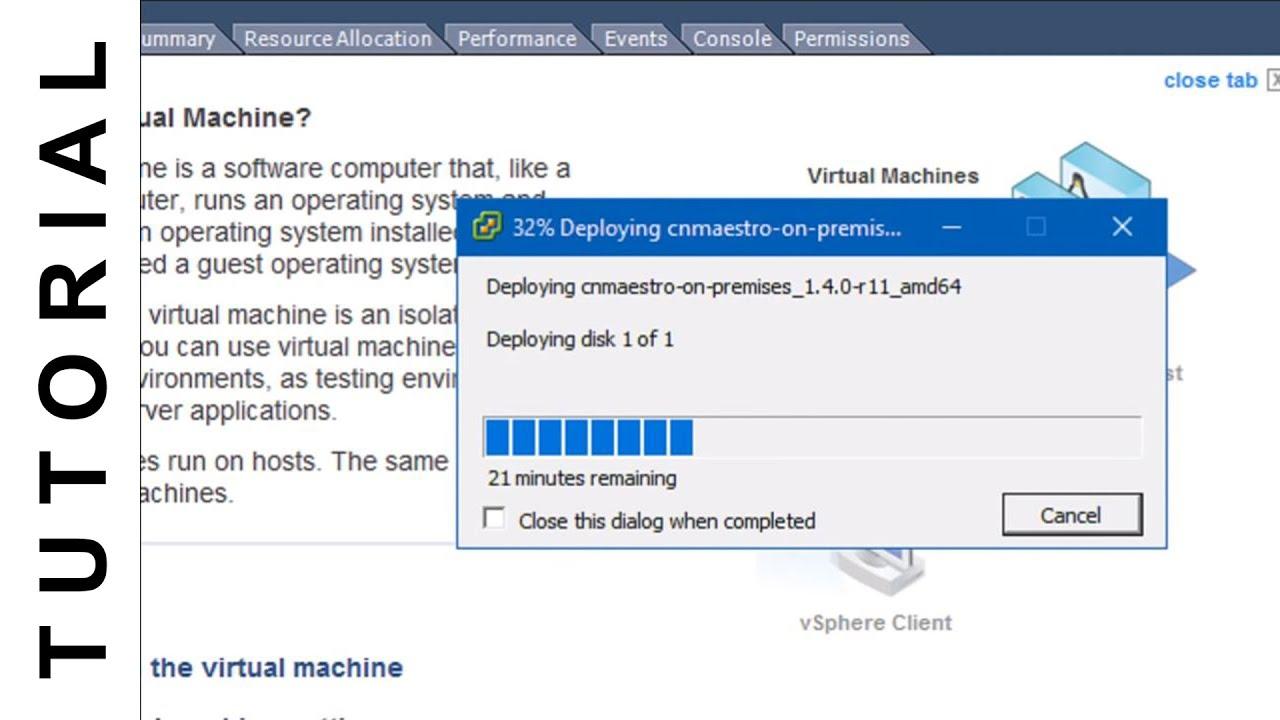 Deploying OVA/OVF Template Using VMware Vsphere Desktop Client - YouTube