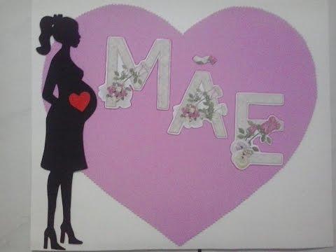 Cartaz Para Decoração Dia Das Mães Com Molde Youtube