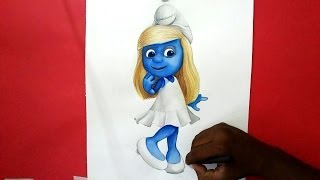 how to draw smurfs 2 smurfette