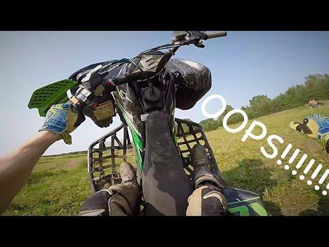 MOTOCROSS MADNESS Loop Out Crash!!! -Moto Vlog KFX 450r #4
