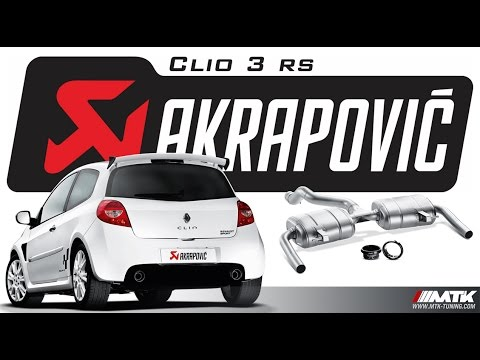 akrapovic clio 3 rs ligne chappement evolution line. Black Bedroom Furniture Sets. Home Design Ideas