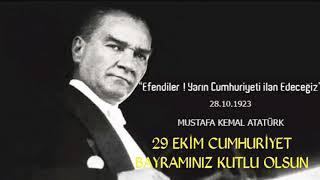 29 EKİM CUMHURİYET BAYRAMINIZ KUTLU OLSUN #TatilDeğilBayram