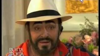 Luciano Pavarotti last public appearance. January 16, 2007