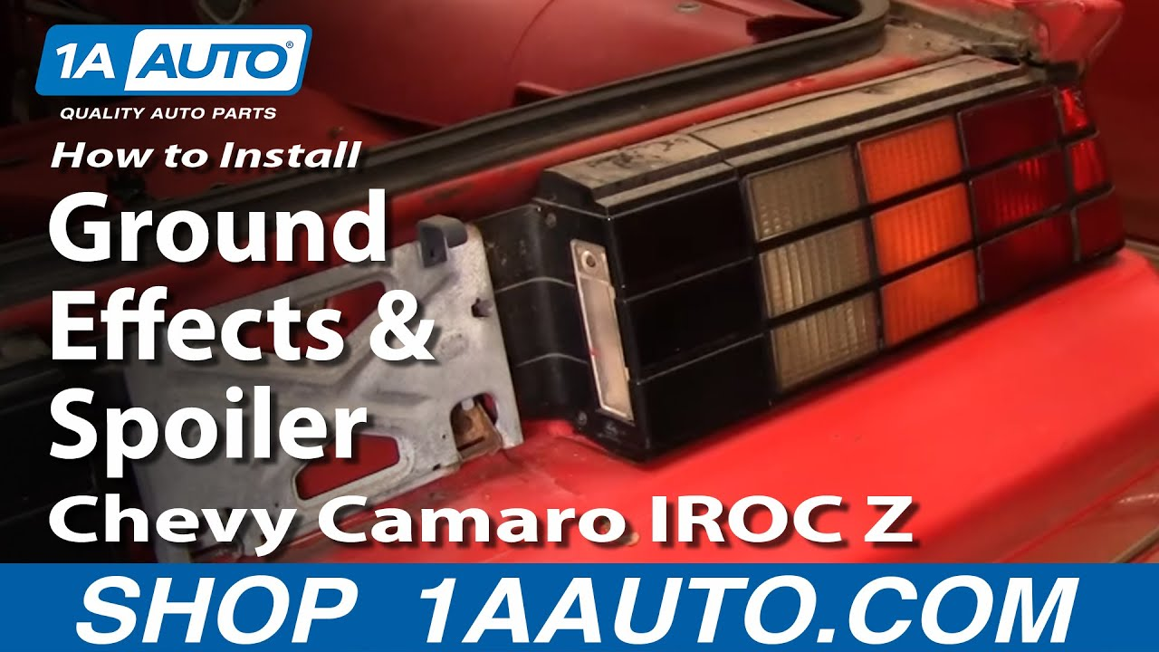 How to Replace Rear Ground Effects  Spoiler 8292 Chevy
