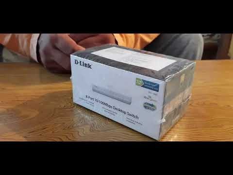 Unboxing & Review Of D-Link 8 Port Switch