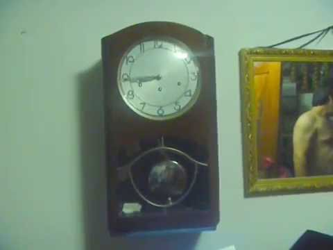 Reloj antiguo de pared alem n a p ndulo marca kienzle for Reloj de pared antiguo