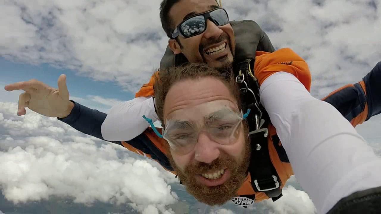 Salto de Paraquedas do Fabio A na Queda Livre Paraquedismo 15 01 2017