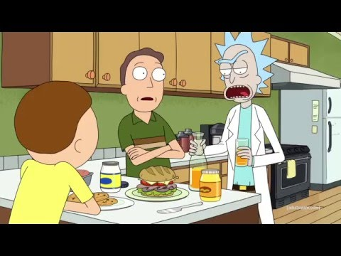 Rick & Morty singing Rap God by Eminem (With eng subs)