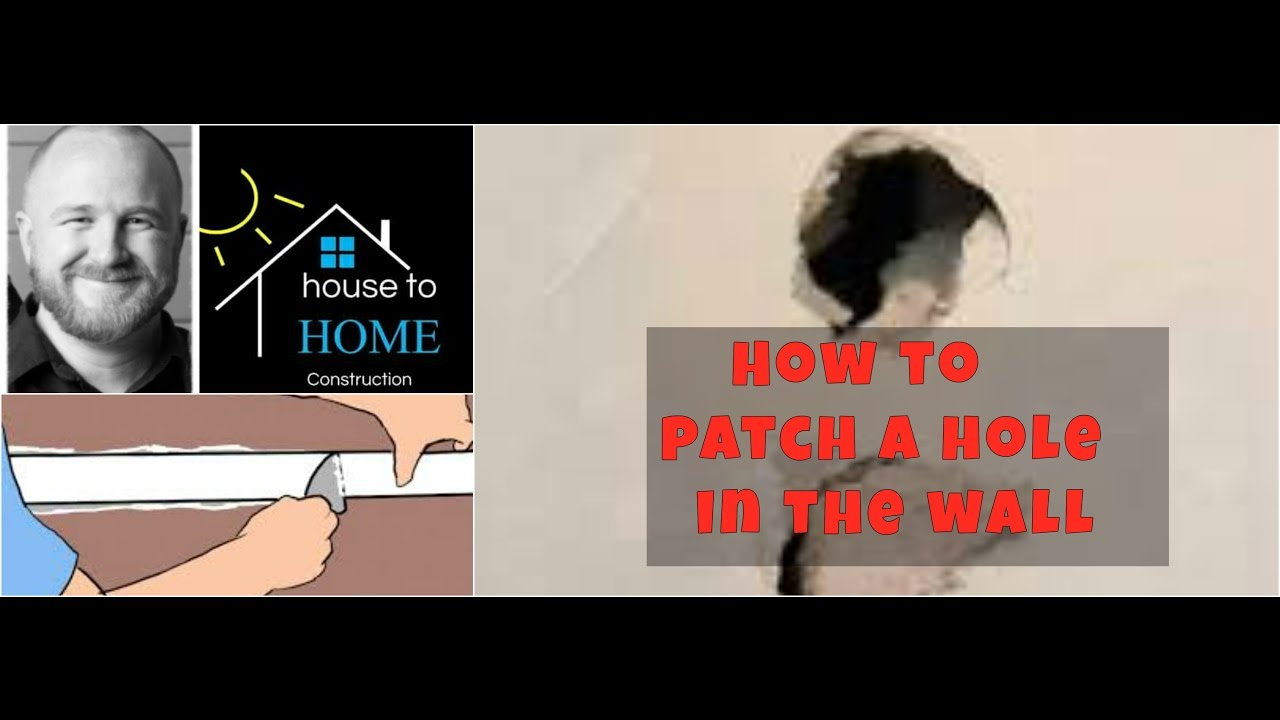 How to Patch a Hole in the Drywall the RIGHT Way! - House to HOME  Construction