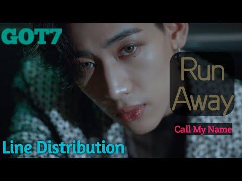 GOT7 - Run Away Line Distribution