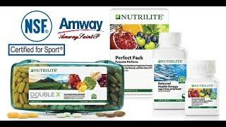 Новый дизайн этикеток на продукции NUTRILITE от Amway.