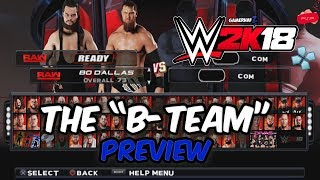 WWE 2K18 PSP, Android/PPSSPP - Tag Team Match ft. The B-Team Axel & Dallas