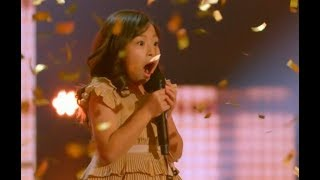 Cute Little Angel Earns The GOLDEN BUZZER! UNBELIEVABLE VOICE | Judge Cut 3 | AGT 2017