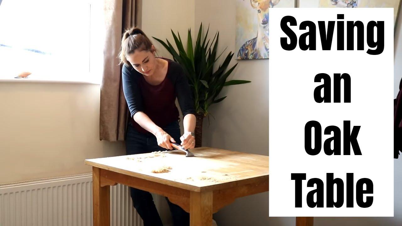 Restoring an Oak Table Skip Find | The Carpenter's Daughter