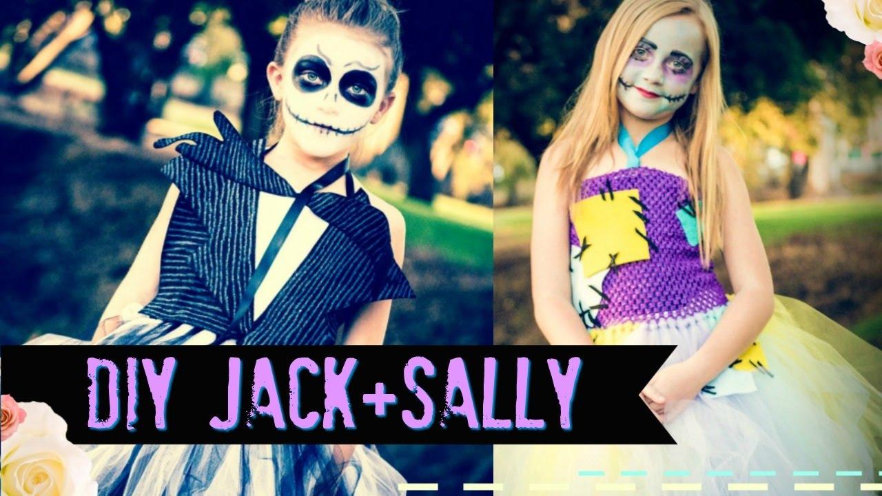 DIY Jack Skellington and Sally NO SEW Costume - Nightmare before ...