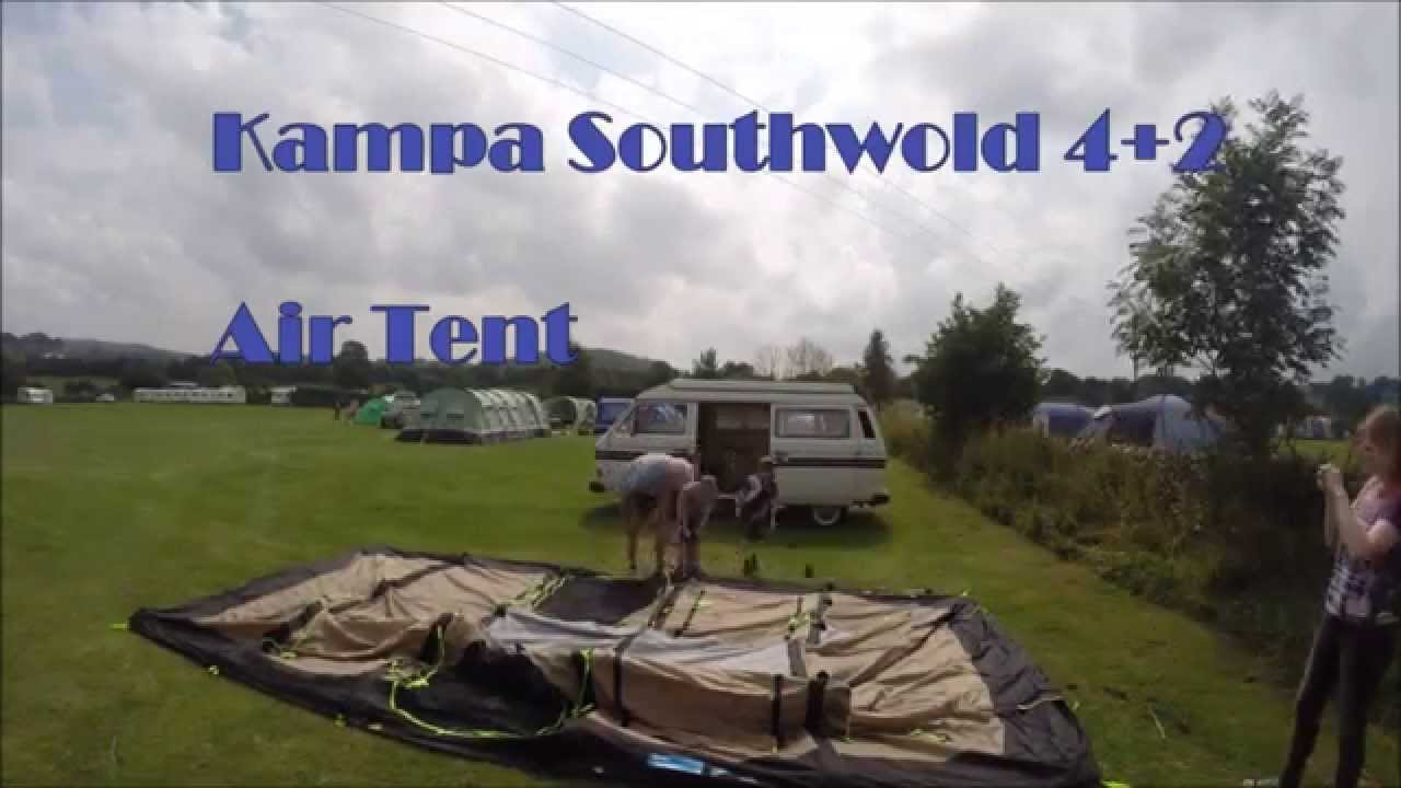 K&a Southwold 4+2 Air Tent & Kampa Southwold 4+2 Air Tent - YouTube