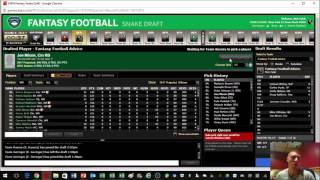 Live 2017 Standard 12 Team Fantasy Football Mock Draft