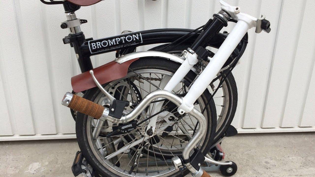 f9482a8fb Brompton custom Brooks B17 saddle and Brooks plump leather grips ...
