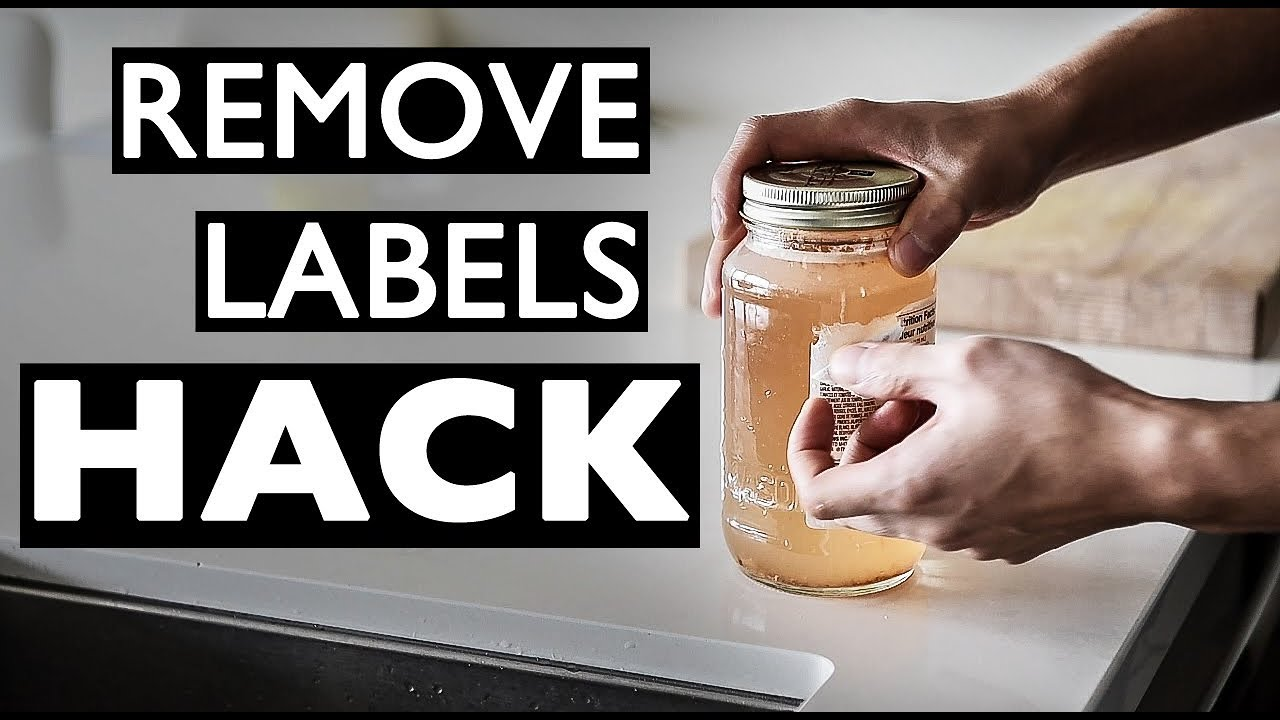 how to remove stickers on bottles easy natural way youtube. Black Bedroom Furniture Sets. Home Design Ideas