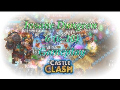 Castle Clash Insane Dungeon 6 (6-10) Gameplay