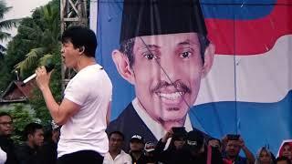 gigi perdamaian mengguncang masyarakat kota baubau kampanye akbar