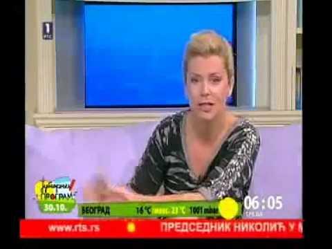 Reporterka RTS-a iznenadjena ukljucivanjem  u jutarnji program [FAIL]