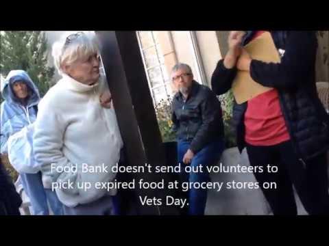 Waiting for a protest; Slim Food Banks; Homeless People; Temple; Salt Palace; Salt Lake, Utah