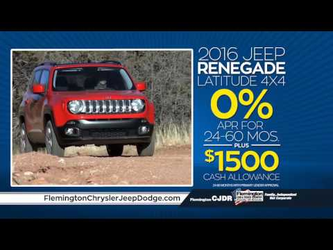 Jeep Renegade Latitude 4x4 $159/mo | 0% APR Available | Flemington Chrysler Jeep Dodge RAM | 08822