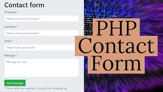 How to Create A PHP Contact Form   PHP Tutorial