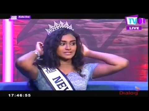 Miss Jr. Teen Nevada Lenisha Rajapaksa @ROBA EVE TV 1