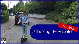 Unboxing E-Scooter -- SXT100 E-Scooter -- mit Rejk! - RenatusTV