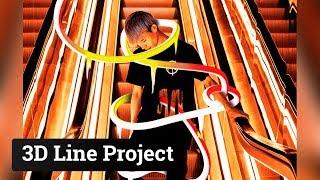 Photoshop 3D line project part 1