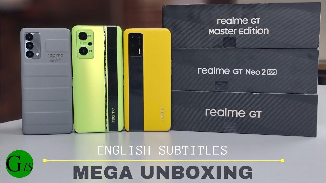 Mega Unboxing - realme GT Neo 2 vs GT Master Edition vs GT 5G !