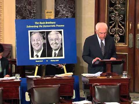 Lautenberg Shines Light  on Koch Brothers and Secret Campaign Financiers