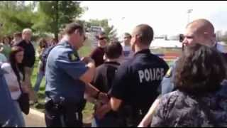 Ron Paul Supporter Arrested Outside St. Charles County, Mo. Caucus 03/17/12