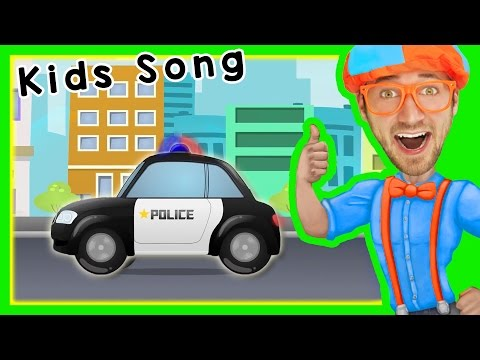 Thumbnail: Police Cars for Children with Blippi | Songs for Kids
