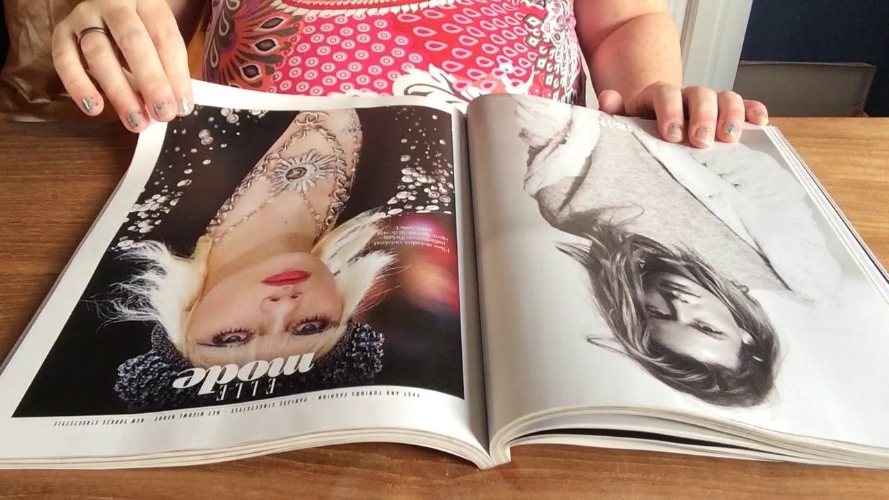 ASMR relaxed gentle page turning through magazines