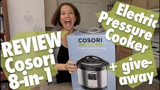 Cosori 8-in-1 8-quart Electric Pressure Cooker Review + Giveaway