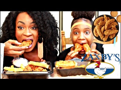 MUKBANG: ZAXBY'S CHICKEN STRIPS & WINGS! EATING SHOW! YUMMYBITESTV